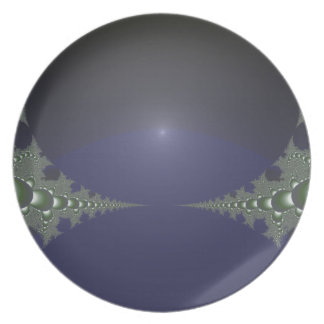 Midnight Dawn Fractal Party Plates