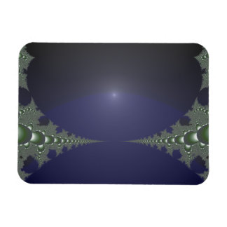 Midnight Dawn Fractal Rectangular Photo Magnet