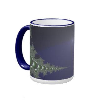 Midnight Dawn Fractal Ringer Coffee Mug