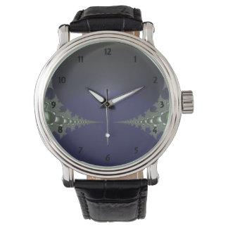 Midnight Dawn Fractal Wrist Watches