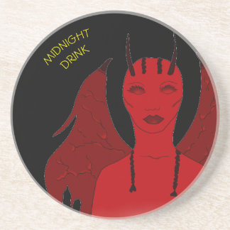 MIDNIGHT DRINK SHE DEMON SOAPSTONE COASTER