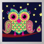Midnight Eastern Owl Poster