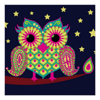 Midnight Eastern Owl Poster