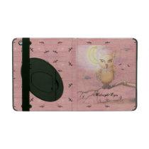Midnight Eyes Cute Owl Goth Gothic iPad Folio Cases