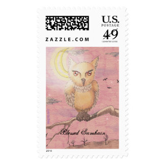 Midnight Eyes Cute Owl Samhain Goth Gothic Postage