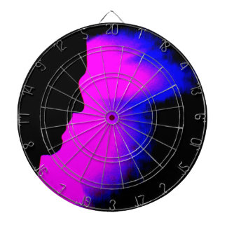 Midnight Face Dartboard With Darts