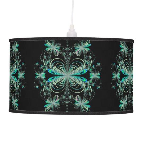 Fractal Pendant Lights: Midnight Firefly Ballet Fractal Pendant Lamp