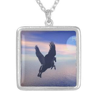 Midnight Flight Square Pendant Necklace
