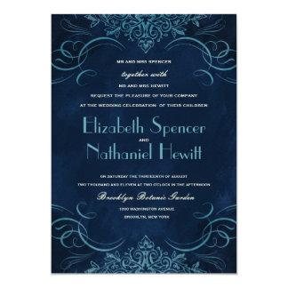 Midnight Flourish Wedding Invitation