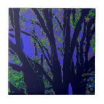 Midnight Forest Ceramic Tile