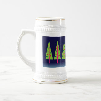 Midnight Forest on Christmas Eve Beer Stein