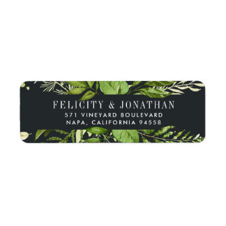 Midnight Garden | Botanical Return Address Label
