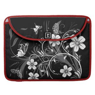 Midnight Garden Butterflies  Rickshaw Flap Sleeve MacBook Pro Sleeve