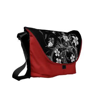 Midnight Garden Butterflies  Rickshaw Messenger Ba Courier Bags