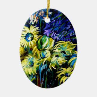 Midnight Garden Ceramic Ornament