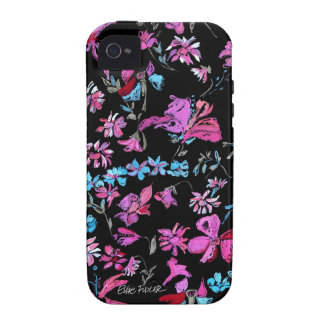 Midnight Garden Floral Vibe iPhone 4 Cases