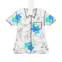 Midnight Garden Hawaiian Hibiscus Aloha Shirt Ornament