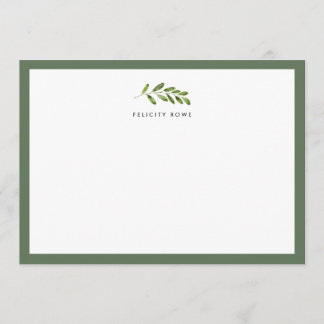 Midnight Garden Personalized Stationery Flat Card