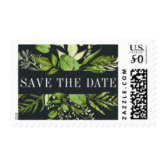 Midnight Garden Save the Date Postage