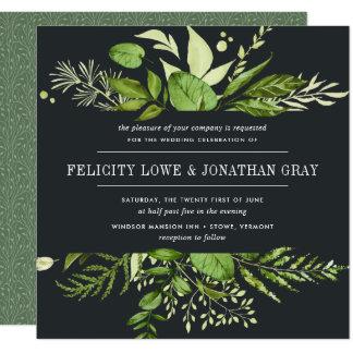 Midnight Garden Wedding Invitation | Square