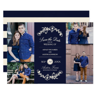Midnight Garden Wedding Save the Date Card