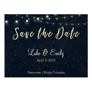 Midnight Glamour Save the Date Cards