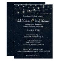 Midnight Glamour Wedding Invitation