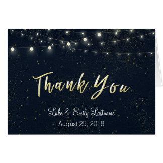 Midnight Glamour Wedding Thank You Card