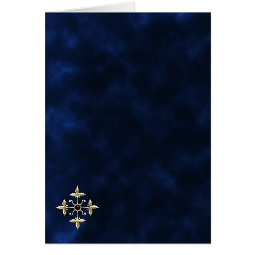 Midnight Gold Goth RSVP response card