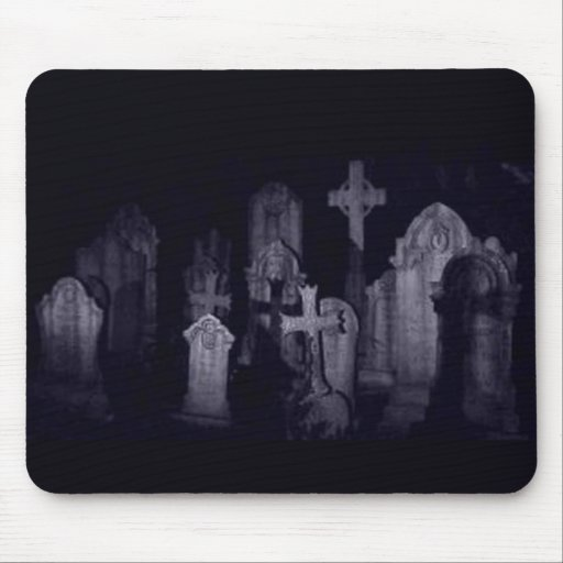 Midnight Graveyard Mouse Pad