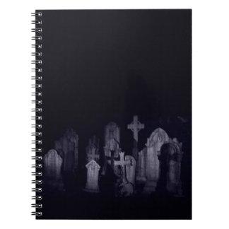 Midnight Graveyard Spiral Notebook