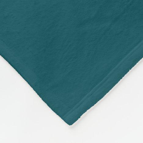 Midnight Green Fleece Blanket