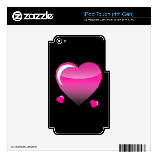 Midnight Hearts iPod Touch 4G Decal