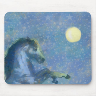 Midnight Horse Mouse Pad