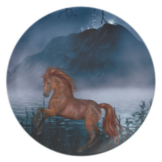 Midnight horse plate