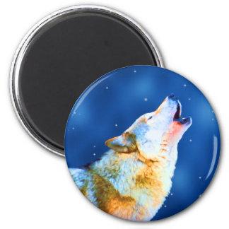 Midnight Howl 2 Inch Round Magnet