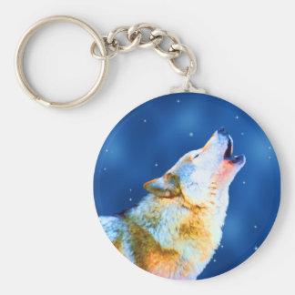 Midnight Howl Keychain
