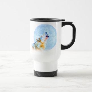 Midnight Howl Moon Art Coffee Mugs