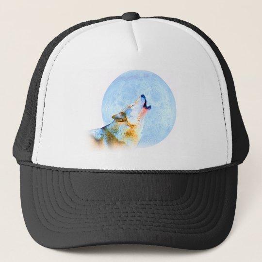 Midnight Howl Moon Art Trucker Hat
