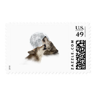 Midnight Howling Postage Stamp