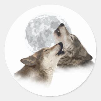 Midnight Howling Round Stickers