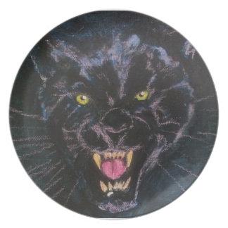 midnight hunter melamine plate