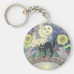 Midnight in the Garden of Dragonflies Basic Round Button Keychain