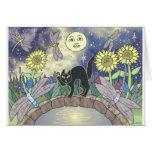 Midnight in the Garden of Dragonflies Card