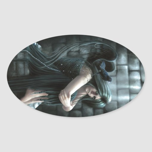 Midnight in the Oubliette Oval Stickers