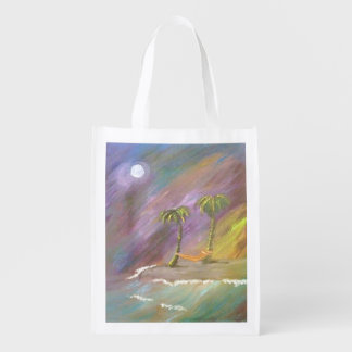 Midnight in the Tropics Reusable Bag Grocery Bags