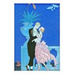 Midnight Kiss Art Deco Print Art Photo