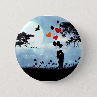 Midnight kiss badge pinback button