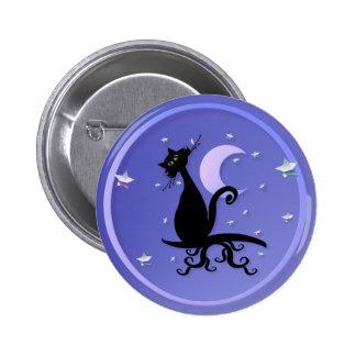 Midnight Kitty Button
