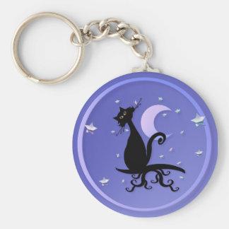 Midnight Kitty Keychain